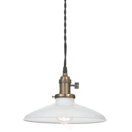 """NEW 7 1//16/"""" Metal Dome Lamp Light Shade Pendant Black Porcelain Industrial Style"""