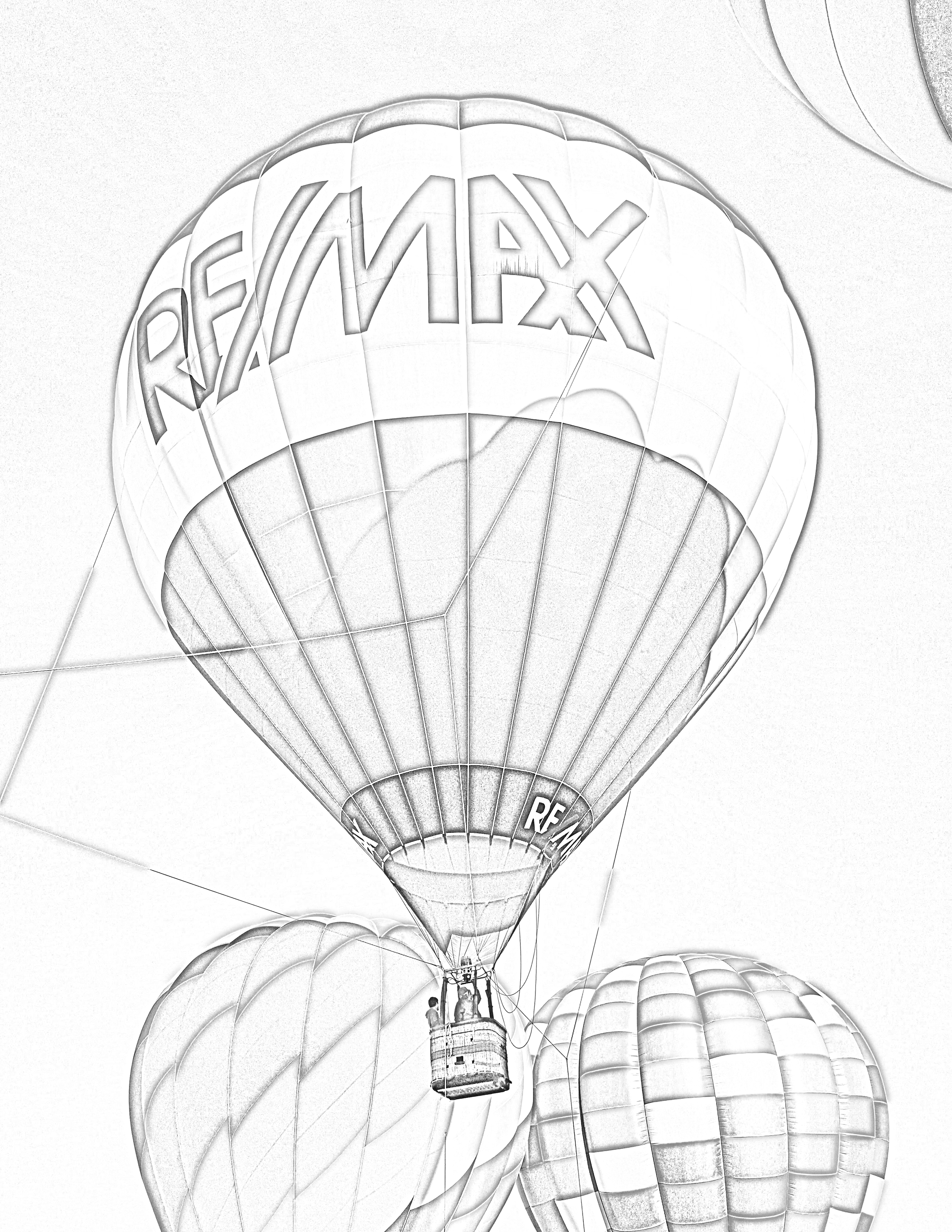 RE/MAX hot air balloon coloring page. #hotairballoonday