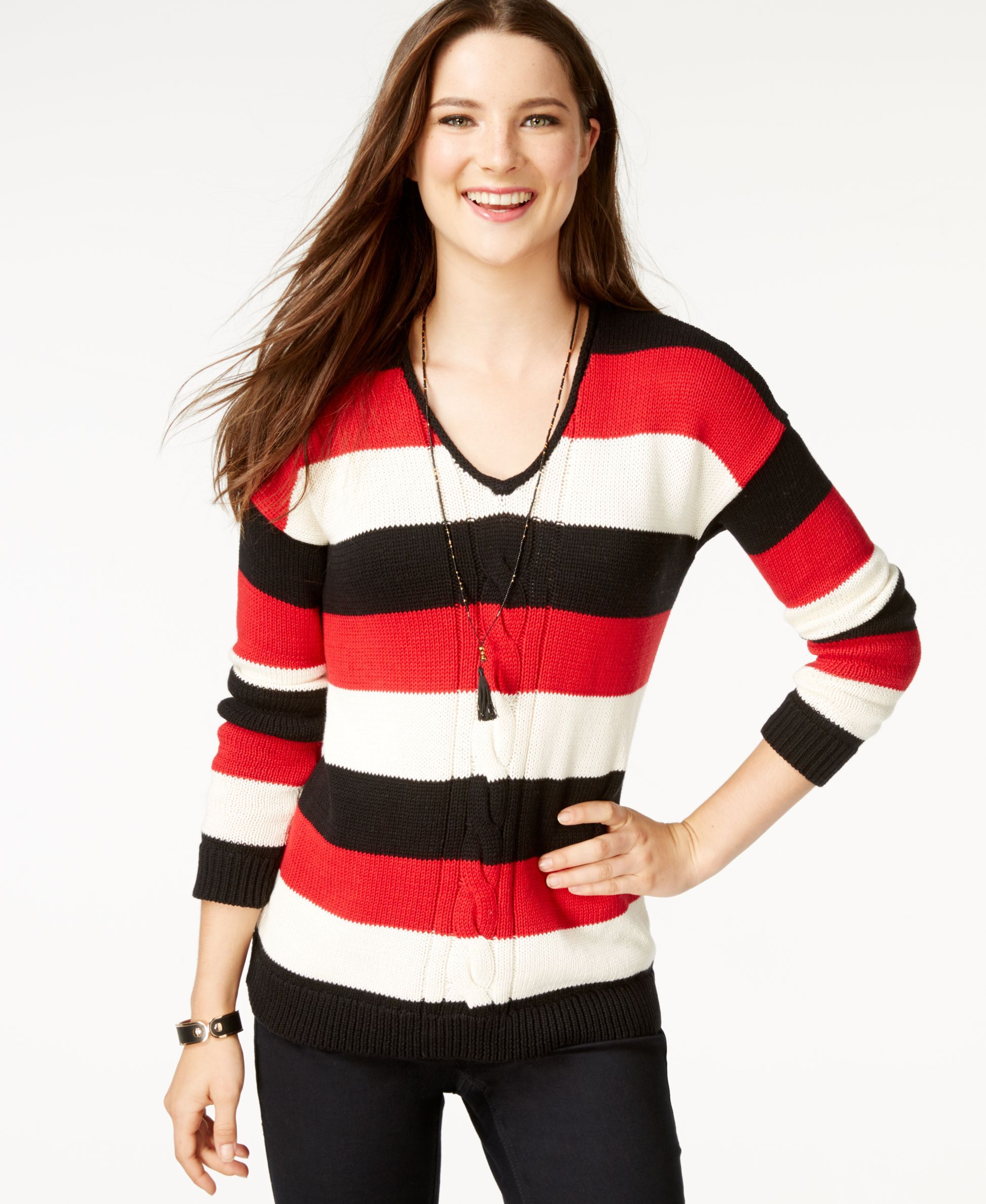 American Living Striped Long-Sleeve Sweater, Only at Macy's