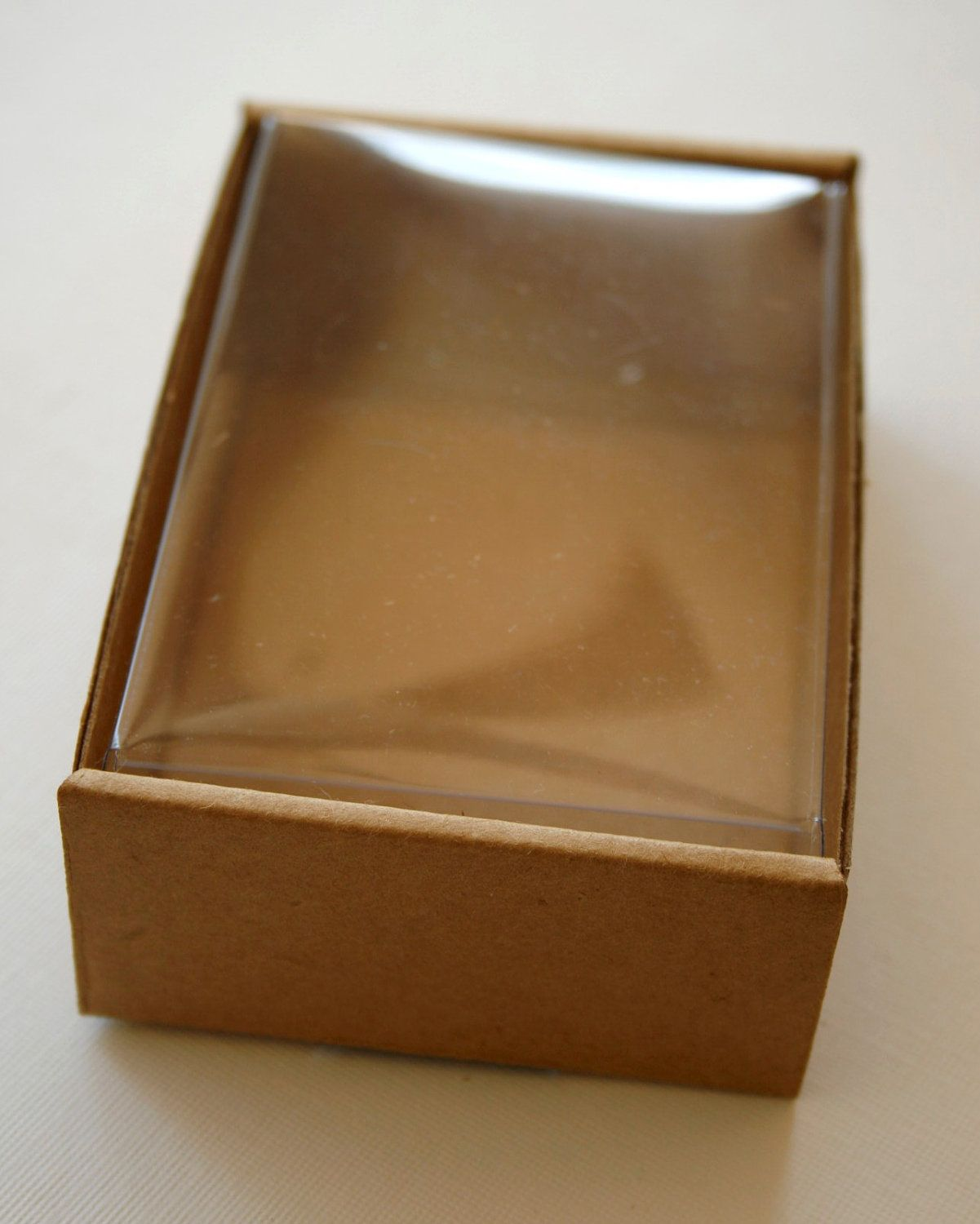 Heavy Kraft Cardboard Boxes Set Of 6 Clear Top By Intheclear Cardboard Box Kraft Packaging Box Packaging