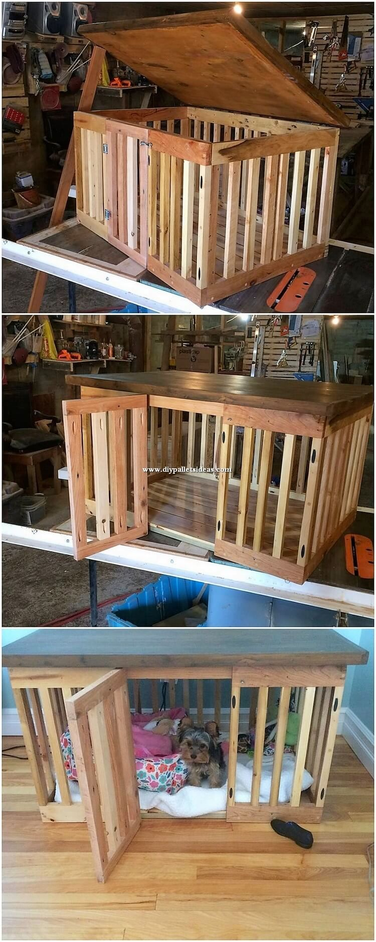 Innovative DIY Ideas of Old Pallets Recycling | Dog crate ...