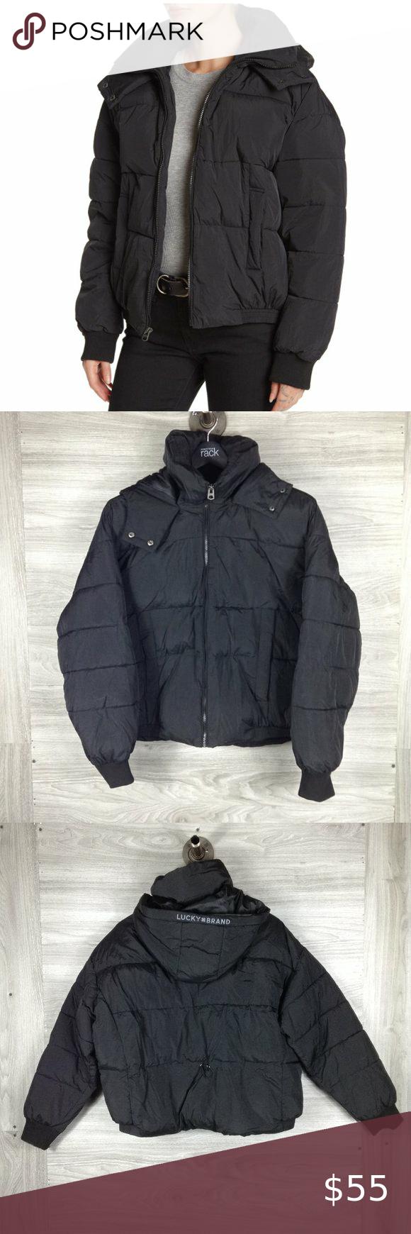 Lucky Brand Black Missy Short Puffer Jacket Short Puffer Jacket Puffer Jackets Lucky Brand [ 1740 x 580 Pixel ]