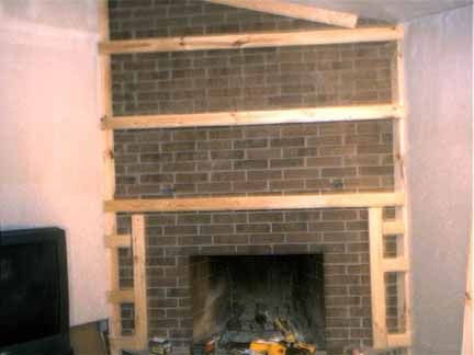 How To Cover A Fireplace Using Sheet Rock In 2019 Brick
