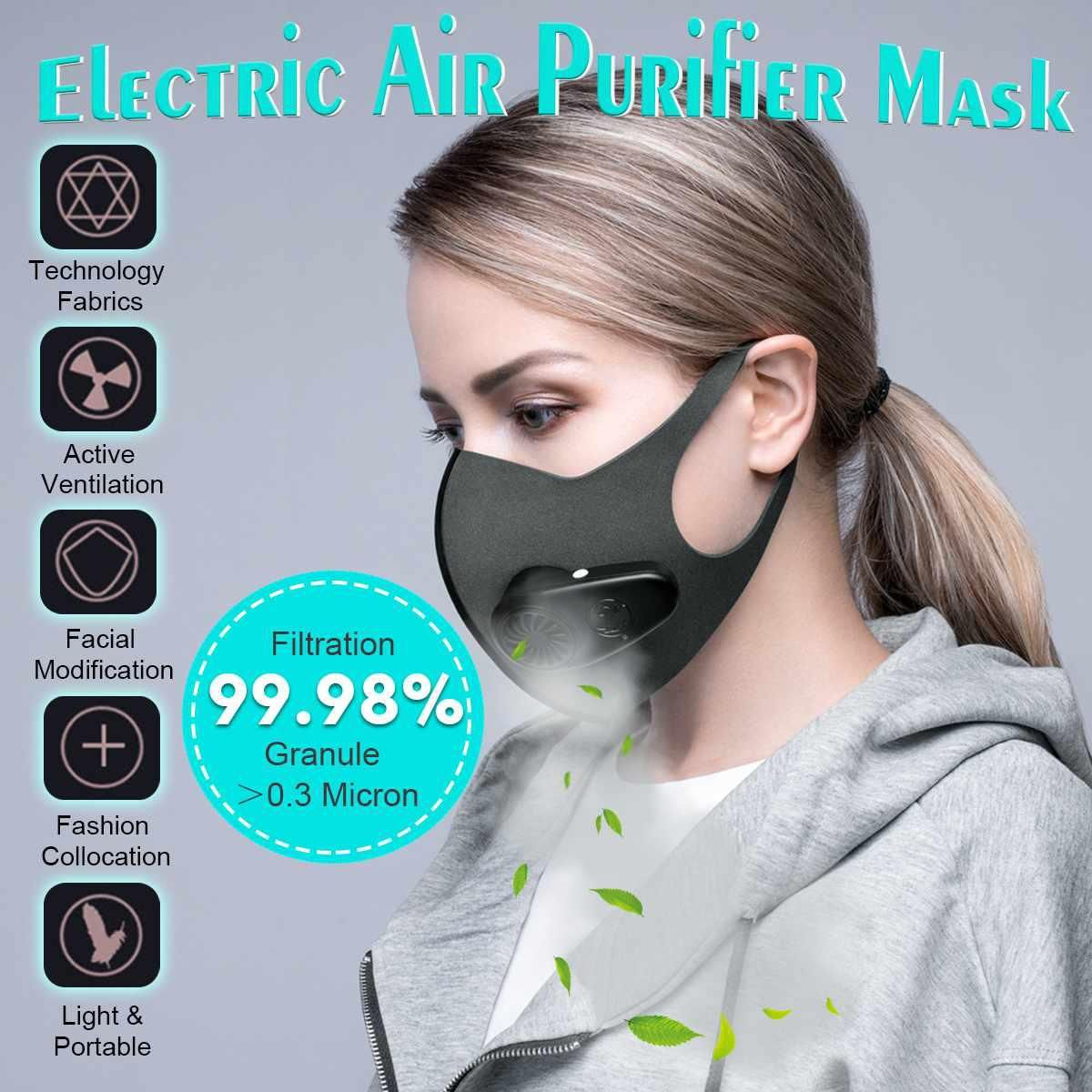 Anti Pollution Air Mask Pm2 5 600mah Filter With Fan Dust Mask Protective Rechargeable Purifier Air Breathing Haze Mouth Ma Anti Pollution Mask Mask Dust Mask