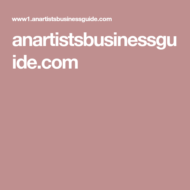 anartistsbusinessguide.com