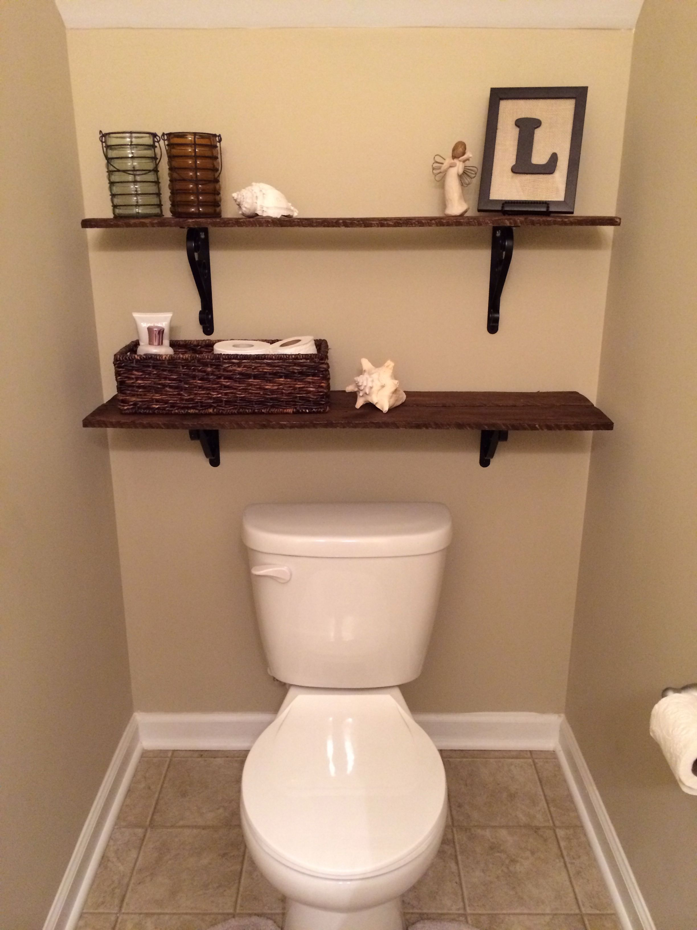 Pallet shelves | Laundry room bathroom, Small space ...