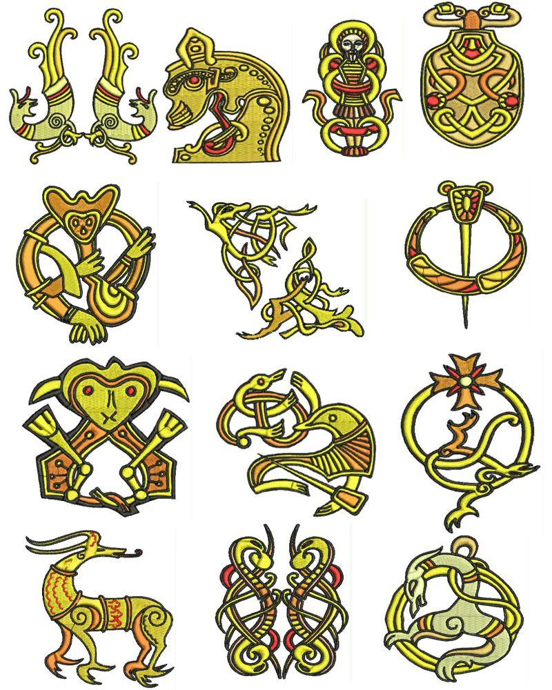 Viking era embroidery designs - | mi creación | Pinterest | Bordado ...
