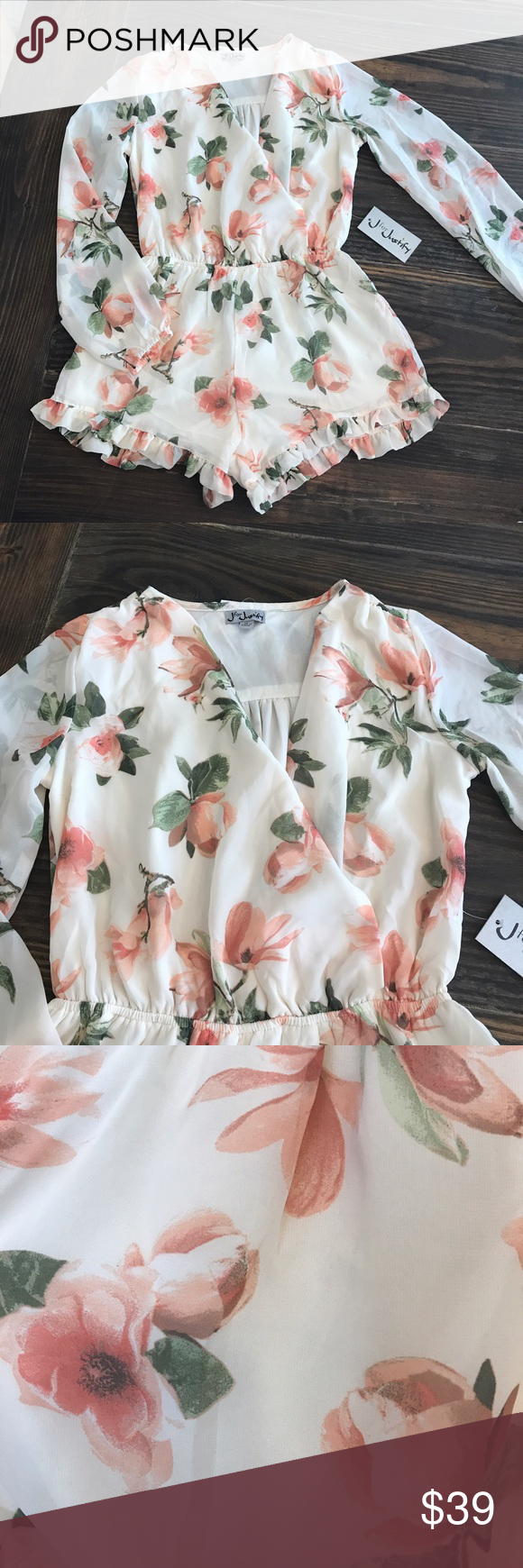 bd95e775f09d 🌺NWT Beautiful Floral Romper by J FOR JUSTIFY 🌺 FAST SELLER! Brand ...