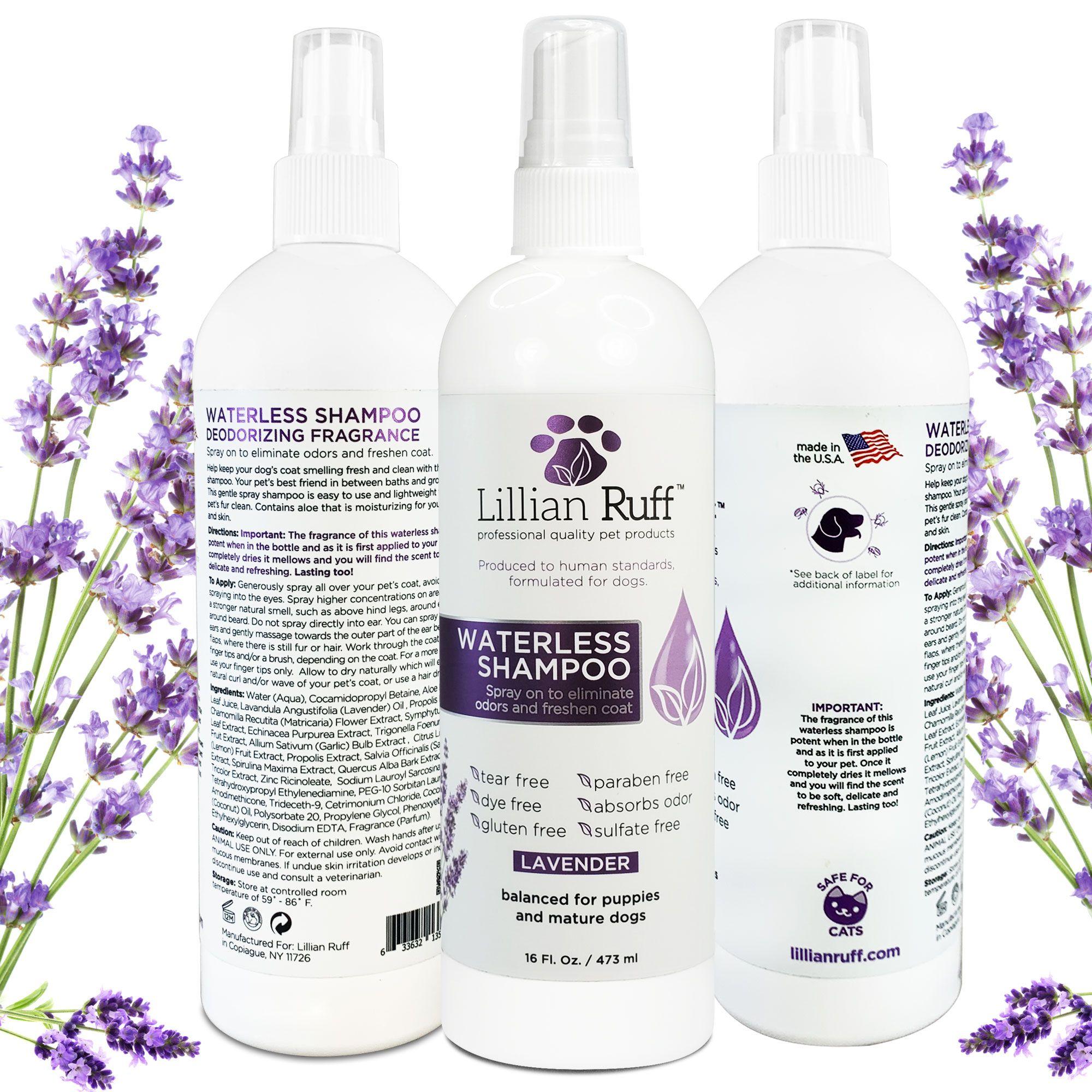 Lillian Ruff Waterless Shampoo Lavender Waterless Shampoo Deodorant Dog Shampoo