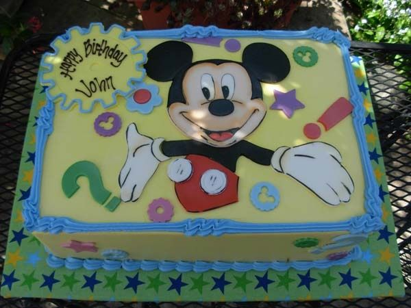 mickey mouse first birthday sheet cake | Mickey Mouse Club House Sheet Cake