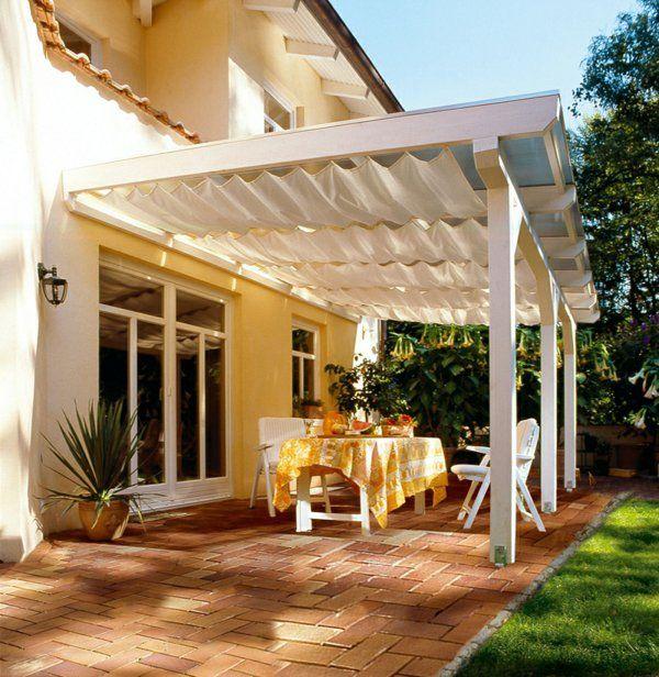 schöne terrassenüberdachung: wenn die terrasse den wohnraum,