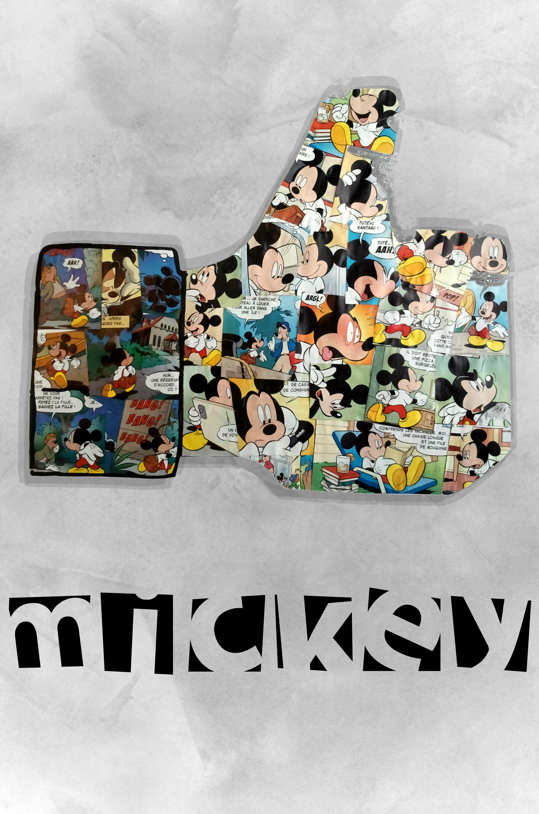 Like Mickey - collage de papier découper #Like #Mickey