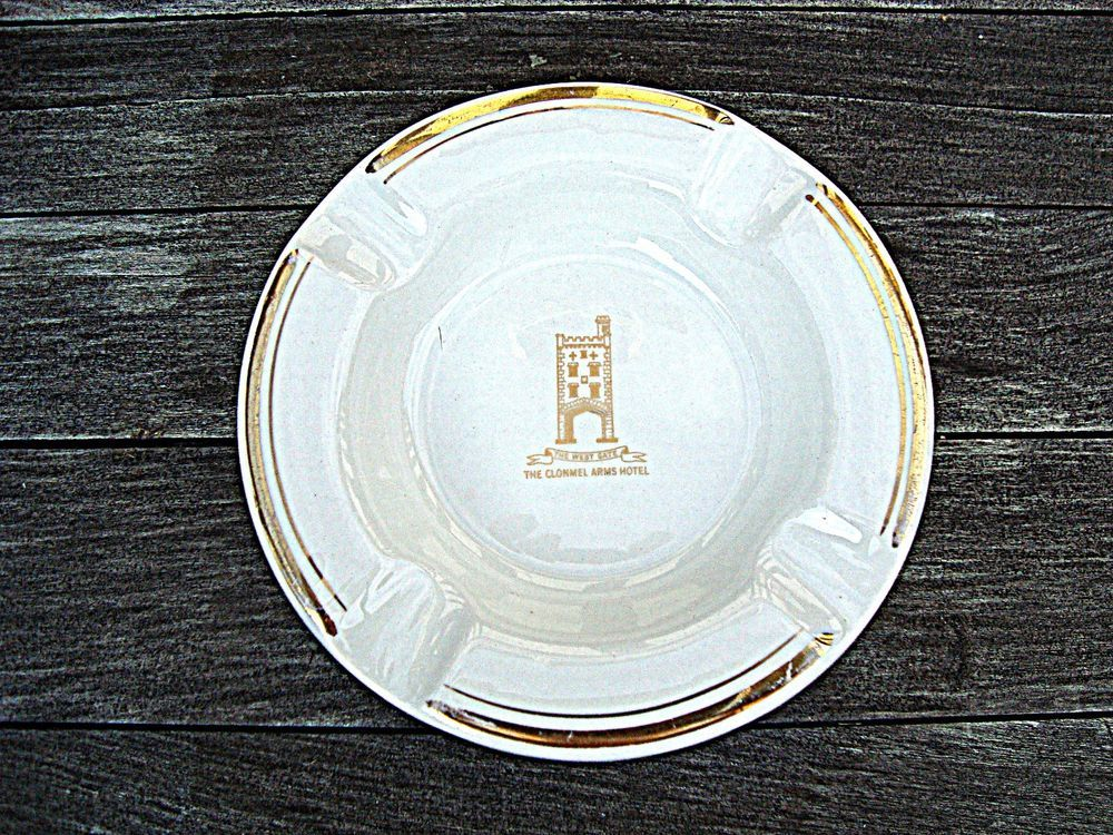 Vintage Ashtray Clonmel Arms Hotel The West Gate By Arklow Republic Of Ireland Going