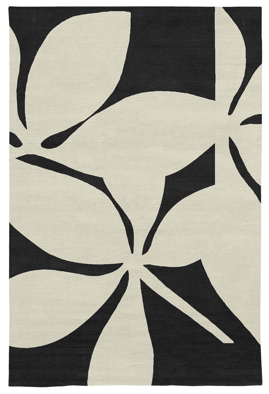 Judy Ross Hand-Knotted Custom Wool Fauna Rug black/cream