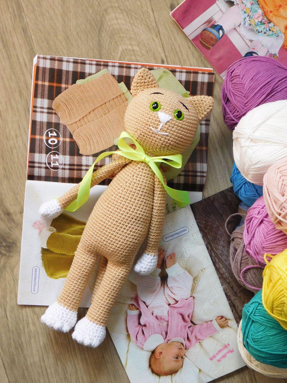 Free crochet cat pattern | Katzen häkeln, Amigurumi und Häkeln