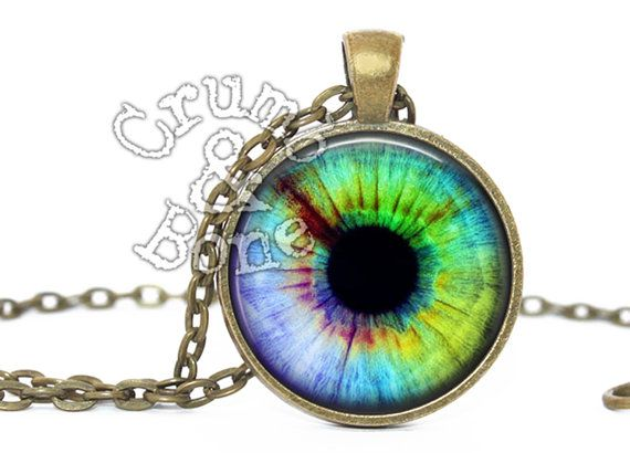 Tie dye eyeball pendant necklace third eye by eyeball tiedye tie dye eyeball pendant necklace third eye by eyeball tiedye crumbandbone funjewelry aloadofball Choice Image