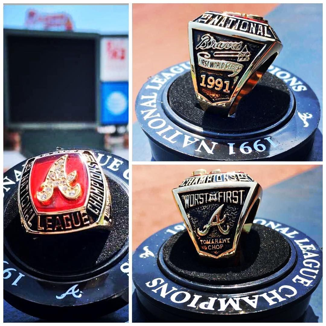 This Saturday The First 20 000 Fans In Attendance At The Ted Will Receive A 1991 Worst To First Nlcs Replica Ring Atlanta Braves Braves Braves Baseball