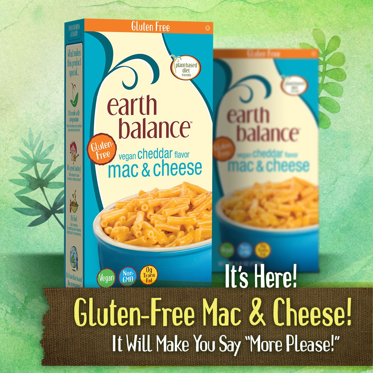 Earth Balance Mac Cheese Goes Gluten Free Made Just Right By Earth Balance Allergy Free Recipes Dairy Free Treats Gluten Free Mac And Cheese