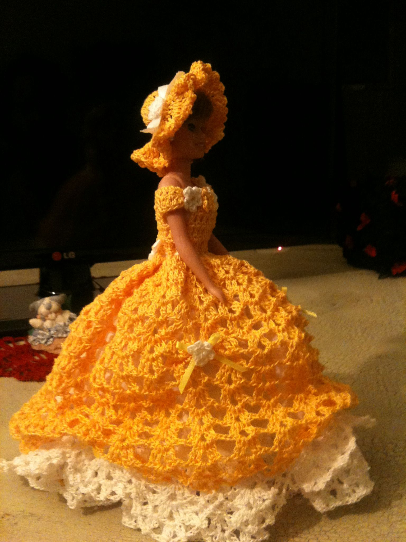 Barbie Xv Years Crochet Dress Crochet Pinterest