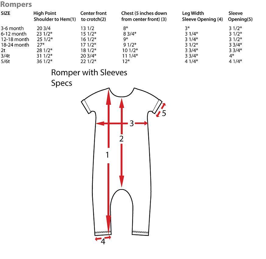 DIY Romper Sizing – Rags To Raches | DIY Children Fashion I Like ...
