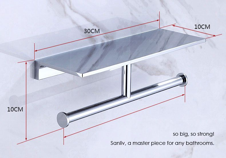 Badkamer Accessoires Inda : Heavy duty double toilet roll holder with mobile phone bathroom