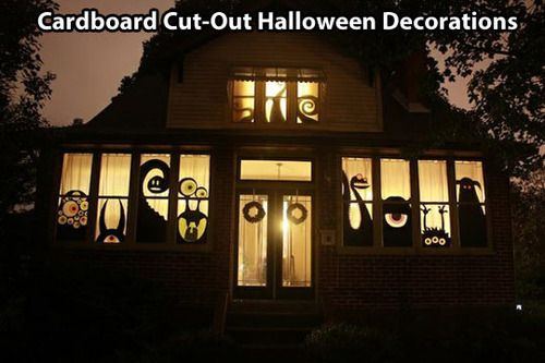 Ha! these cut out monsters crack me up Would make Halloween that - make halloween decoration