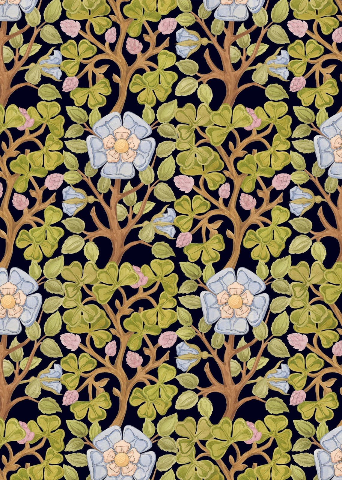 Art Nouveau Floral Patterns Art Deco Floral Patterns Art Art
