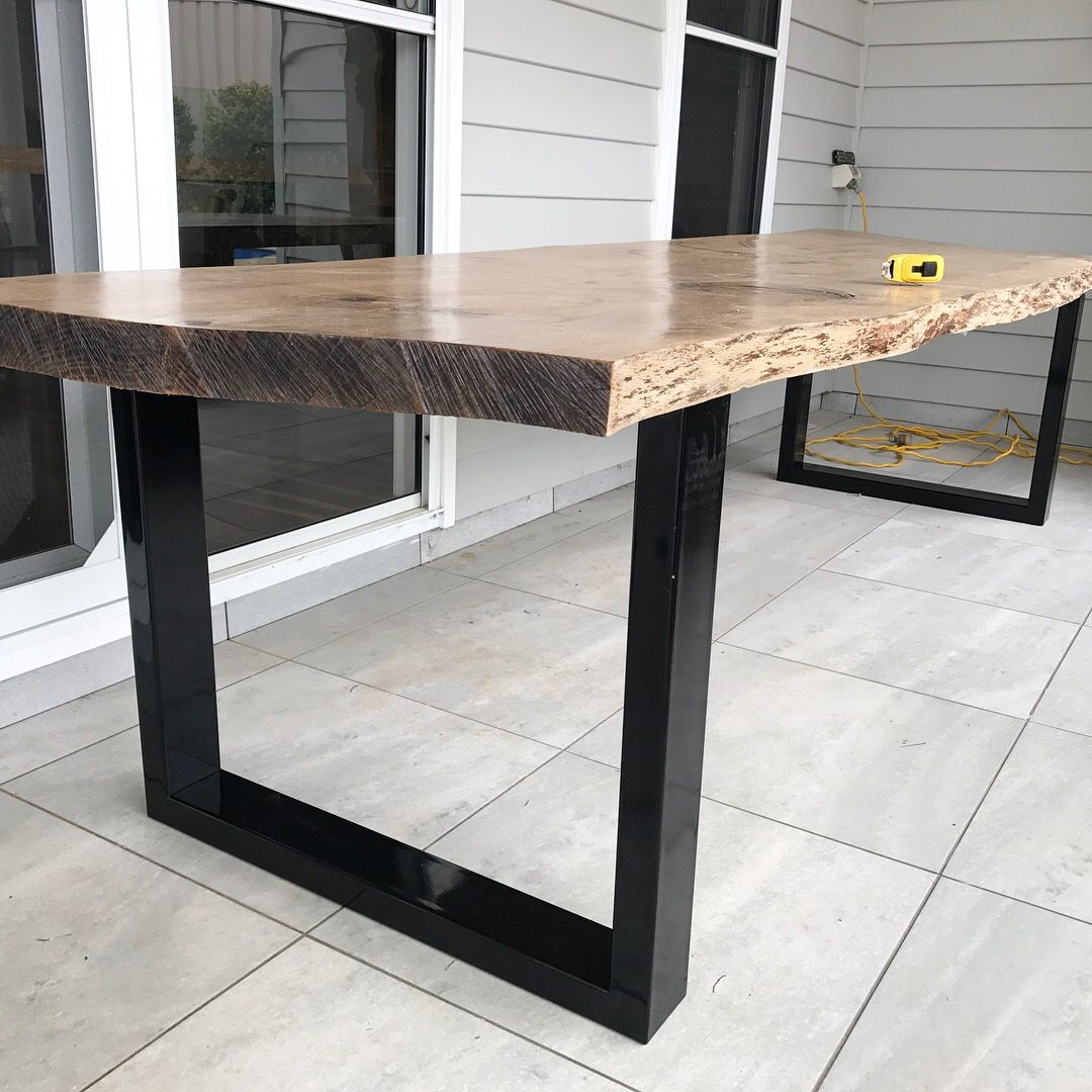 Around here lately live edge table table outdoor dining