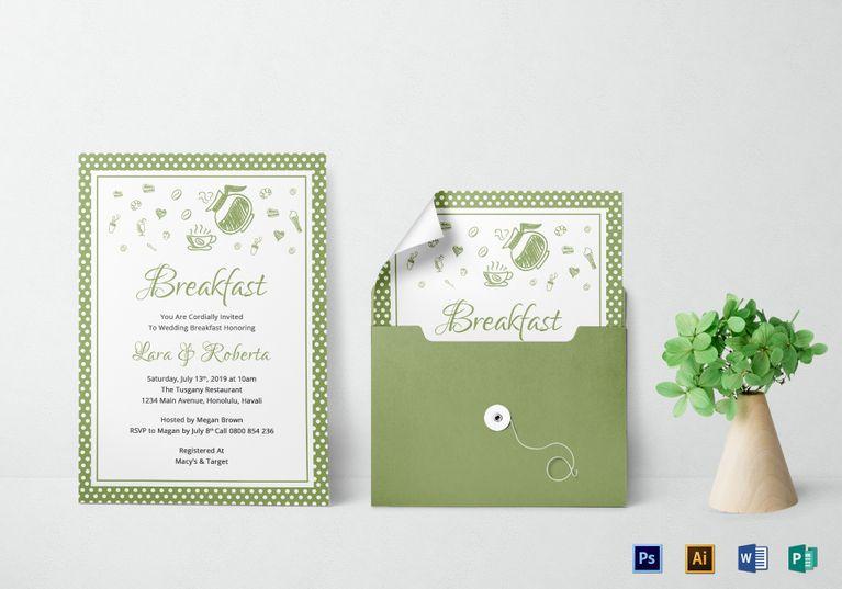 printable breakfast invitation template invitation card templates