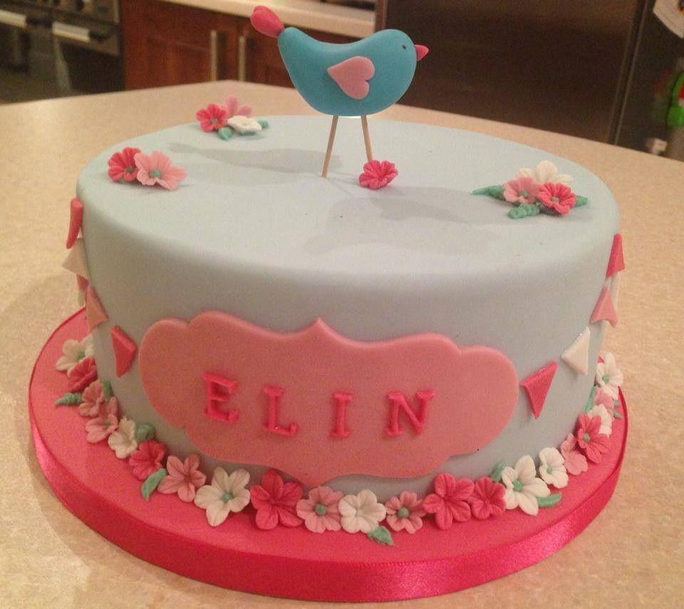 Girls Birthday or Christening cake by Bryony May Cakes Surrey UK