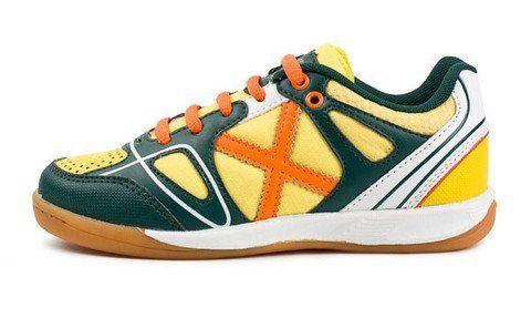 3973f2e12 MUNICH - X-Way Kid 4 - Indoor Soccer   Futsal Shoe - Yellow Green Orange  MUNICH.  54.95