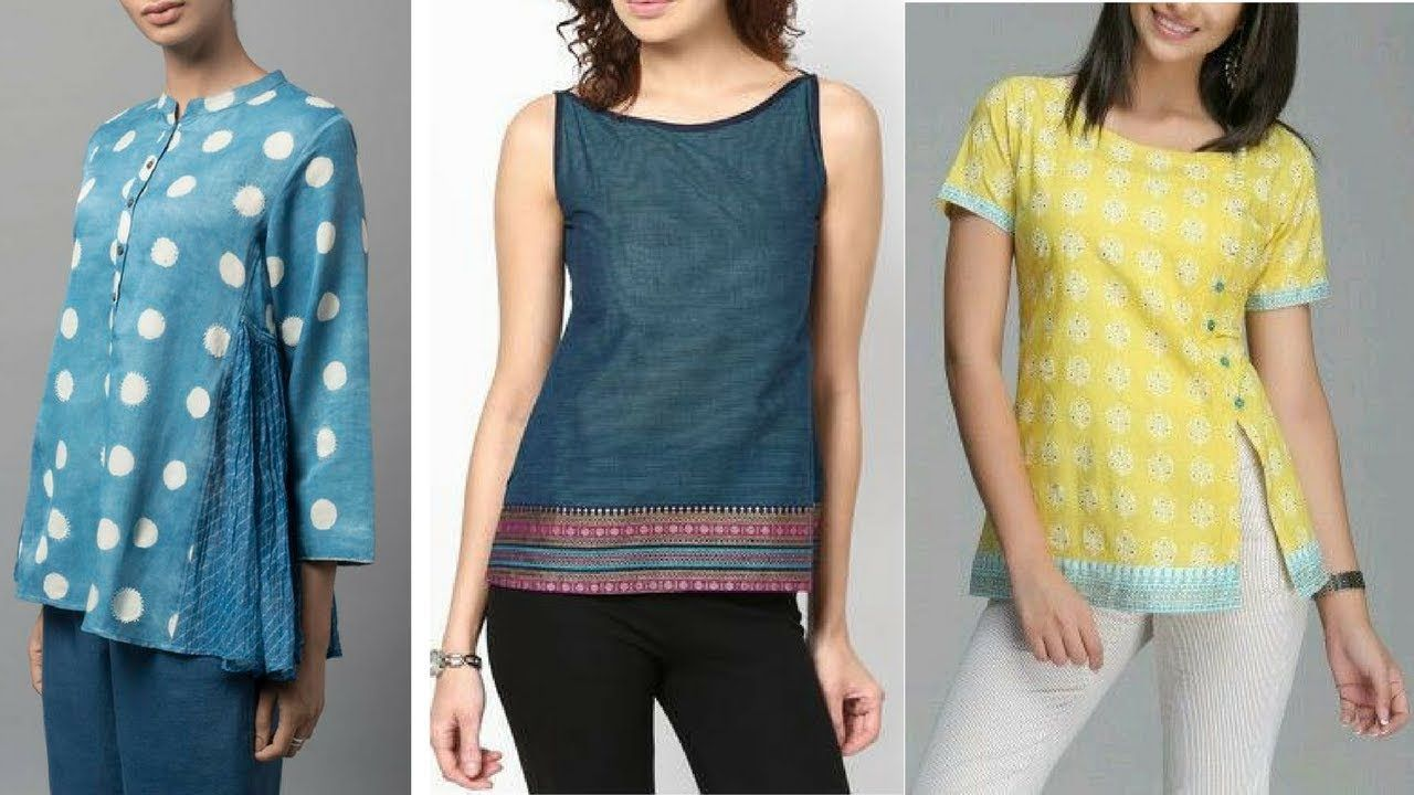 Short kurti designs 2018 short kurti designs for jeans skirts