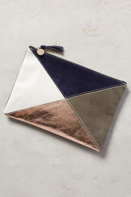 Clare V Intersection Pouch Neutral Motif One Size Clutches