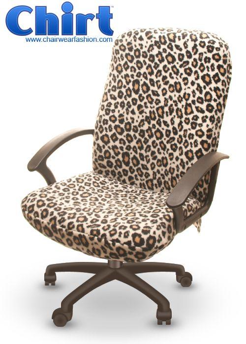 My Next Office Chair Wild Leopard Chirt Office Chair Cover Chairwear Fashion Office Chair Cover Animal Print Furniture Leopard Print Furniture