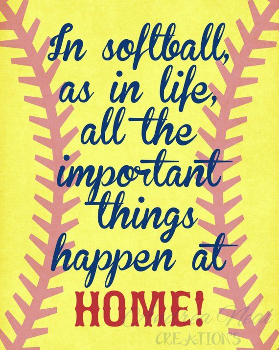 Softball Quotes Softball Quotes, Softball Gift, INSTANT DOWNLOAD, High School  Softball Quotes