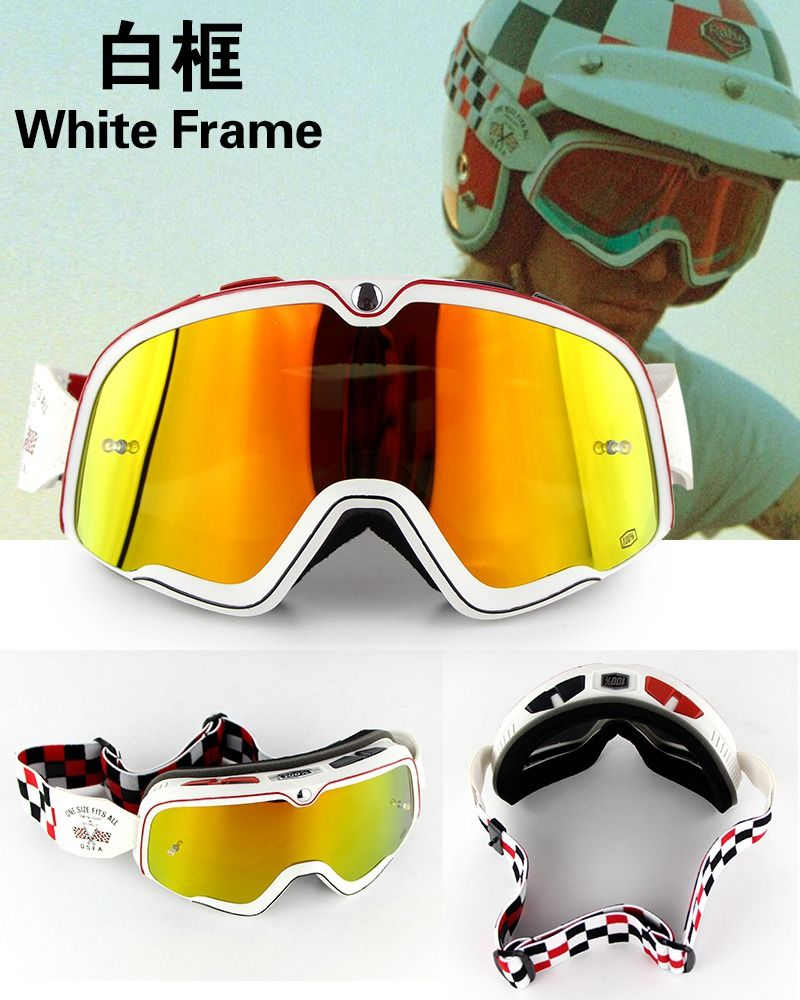 4691cde8fb check discount newest arrival 100 barstow retro motorcycle goggles gafas  bmx oculos vintage  vintage  motocross