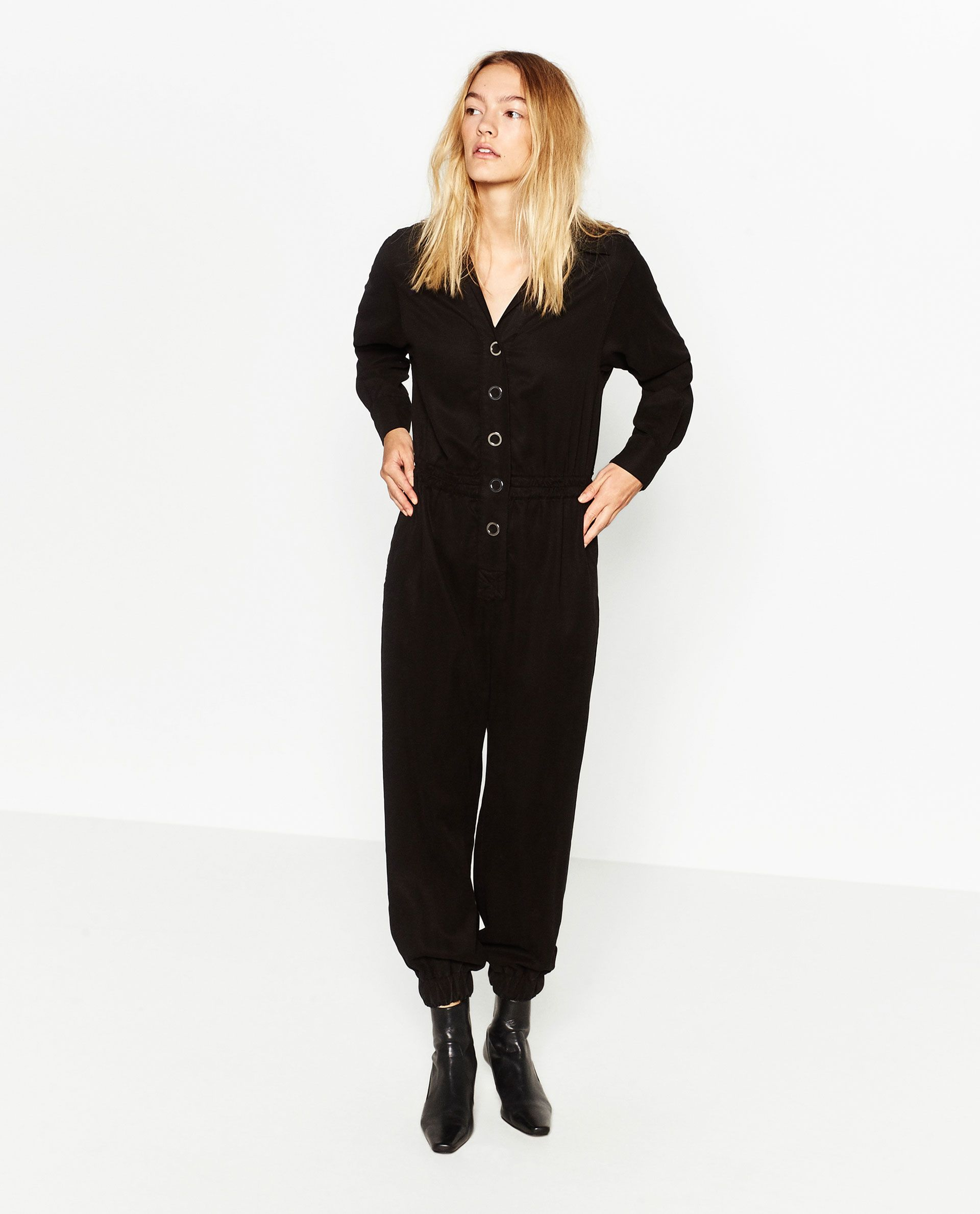Jumpsuits & Rompers 2019 Fashion Zara Trafaluc Velour Romper Short Jumpsuit Size Small Black Nice! Clothing, Shoes & Accessories