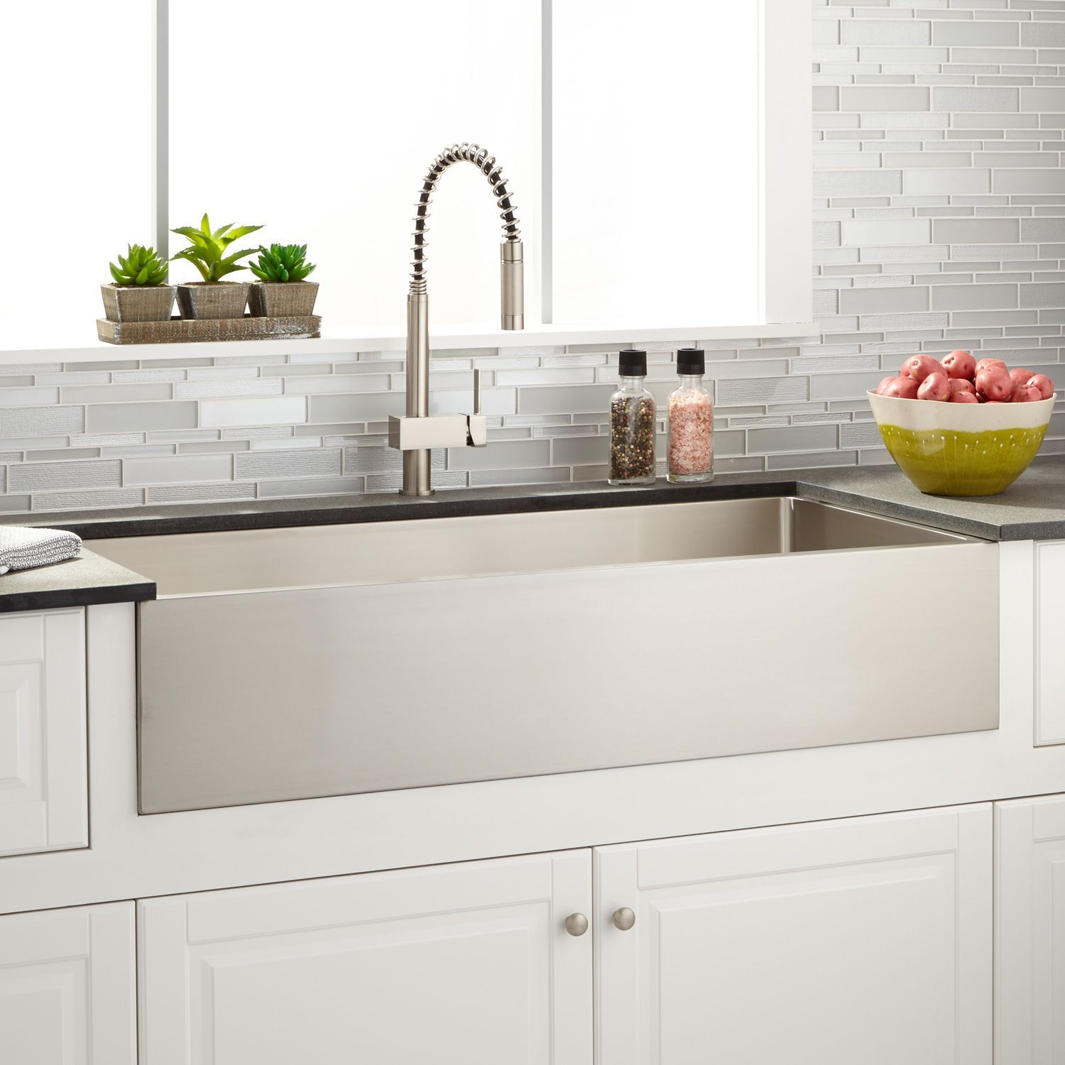 "39"" Atwood Stainless Steel Farmhouse Sink Signature"