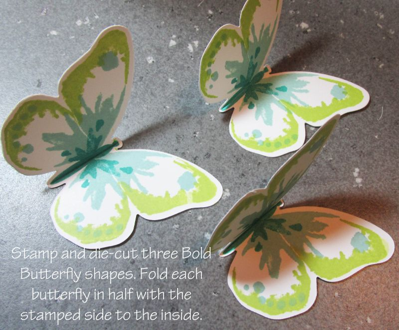 Rubber Stamp Card Making Ideas Part - 41: Triple Butterfly Pop Up Card Free Tutorial Lyssa Stampin Up Technique Bold  Butterflies Rubber Stamping Card