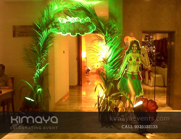 Entry Gate Hawaiian Theme Party Decor Hawaiian Birthday