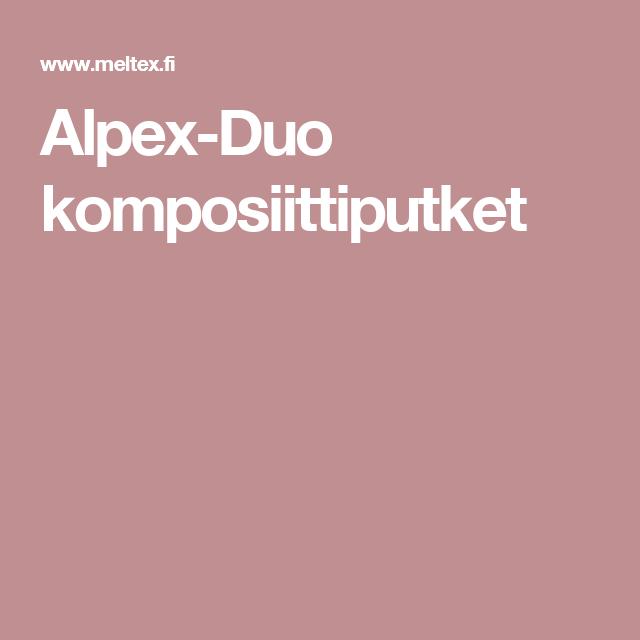 Alpex-Duo komposiittiputket