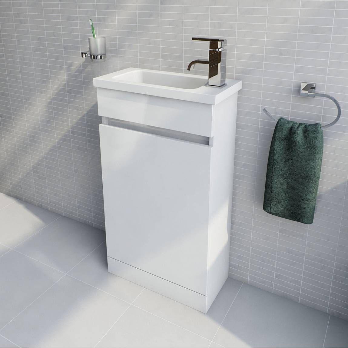 Sienna Autograph White Gloss Combination Vanity Unit Large Victoria Plumb Combination Vanity Units Vanity Units Bathroom