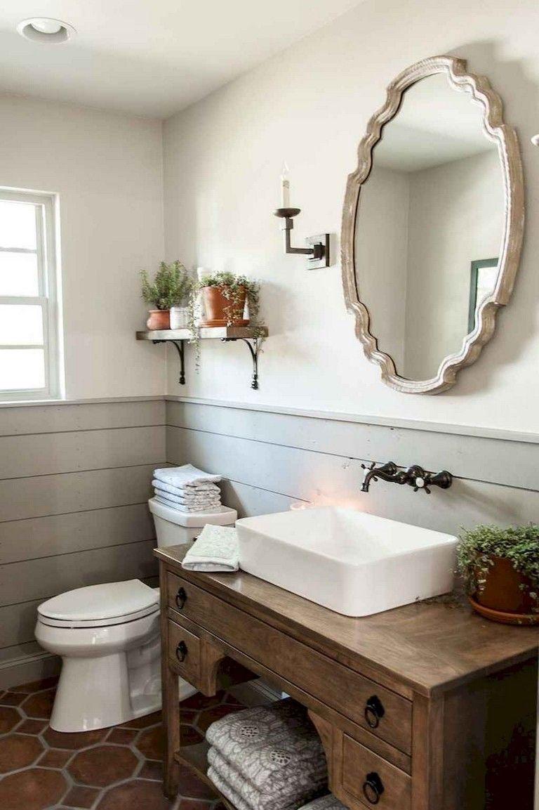 70 awesome farmhouse rustic master bathroom remodel ideas on bathroom renovation ideas modern id=69428