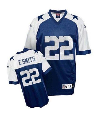 best sneakers c3986 85e9d Men's discount Reebok #22 Emmitt Smith Authentic Navy Blue ...