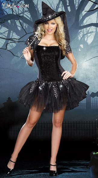 0601208b268 Starry Night Witch Costume - The Starry Night Witch costume includes a  sequin front tutu dress with innovative black to silver sequins that change  with the ...
