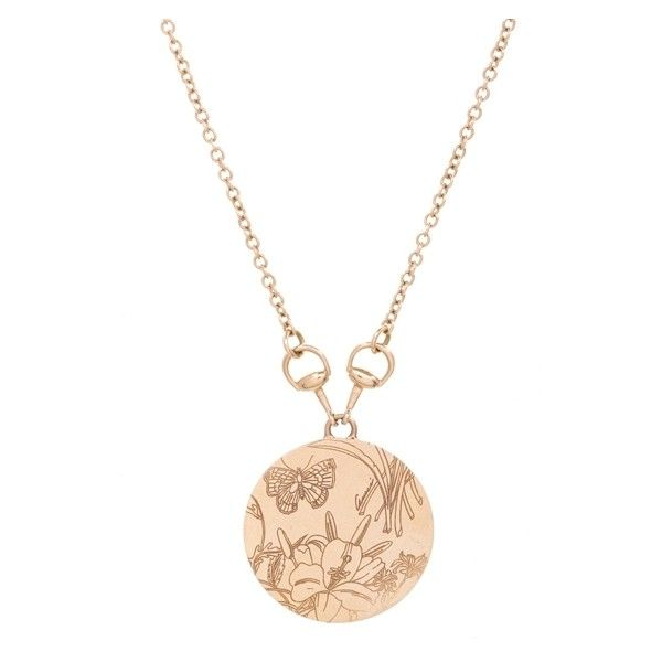 Pre owned gucci 18k yellow gold flora horsebit round pendant pre owned gucci 18k yellow gold flora horsebit round pendant necklace 1500 aloadofball Images