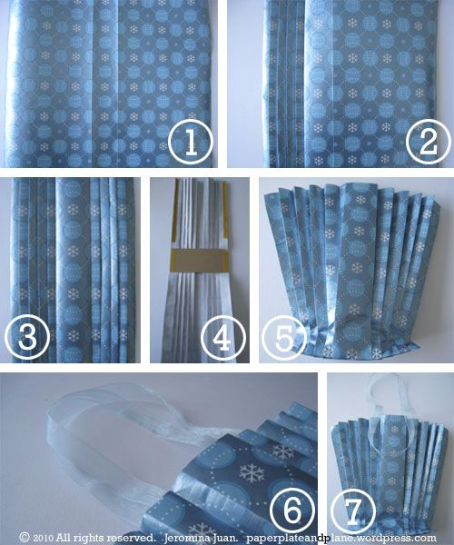creative gift wrapping: pleated gift bag | Creative gift wrapping ...