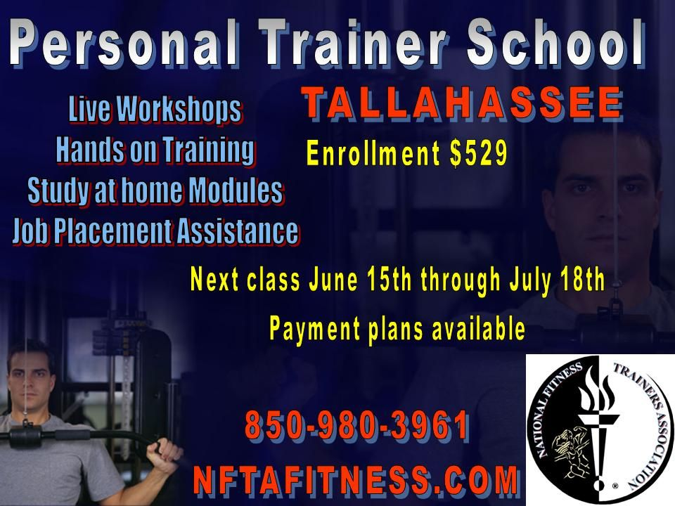 GET CERTIFIED! Personal Trainer School in Tallahassee