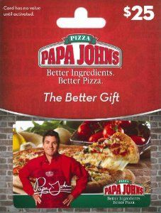 Amazon.com: Papa John's Pizza $25 Gift Card: Gift Cards Store