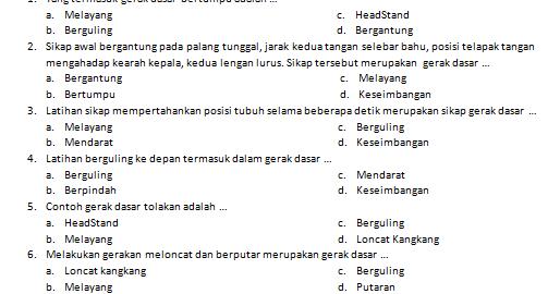 Download Soal Pjok Kelas 5 Kurikulum 2013 Dan Kunci Jawaban Untuk Pts Dan Pas Revisi 2019 Kurikulum Psikologi Buku